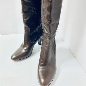 Coach Millie Signature Brown Italian Leather Boots
